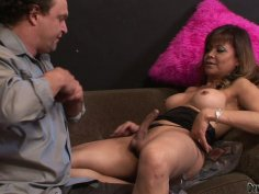 Kinky shemale mom Johanna B gets her pricked sucked hard