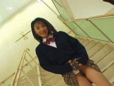 Fuckable Japanese cutie Seire Mochizuki gives a zealous mouth fuck