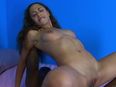 Mimi Allen bounces her hot pussy on this hard prick