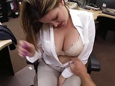 Wife with big tits fucked by pawn guy
