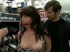 Breathtaking doxy is humiliated sexually in public