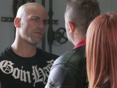 Horny red haired biker Kirsten Price enjoys a hot cunnilingus