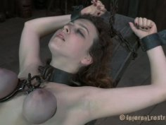 Nasty chick Dixon Mason is starring in a hardcore BDSM video produced by Infernal Restraints
