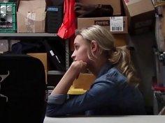 LP Officer ravaging on Emma Hix spread pussy