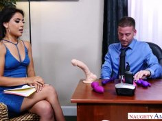 Jynx Maze Replaces Office Dildos With Her Boss's Big Dick