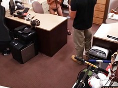 Busty bitch pawned her stuff and pounded by nasty pawn dude