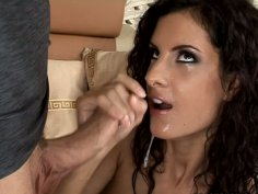 Curly and wondrous Leanna Sweet gets a hot and tender cunnilingus
